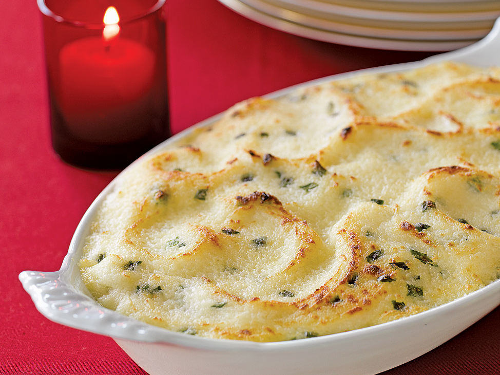 Garlic Mashed-Potato Gratin