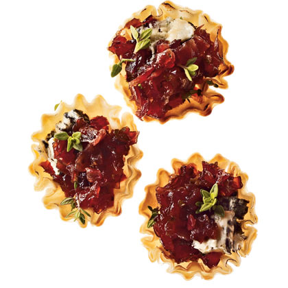 Red Onion Jam and Gorgonzola Tartlets
