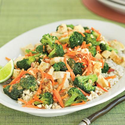 Peanut-Broccoli Stir-fry