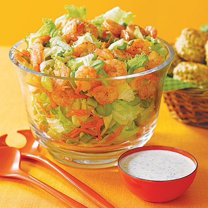 Blazing Buffalo-Shrimp Salad