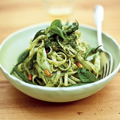 Pesto Linguine With Lemon