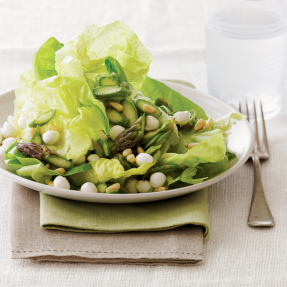 Asparagus and Butterhead Lettuce Salad