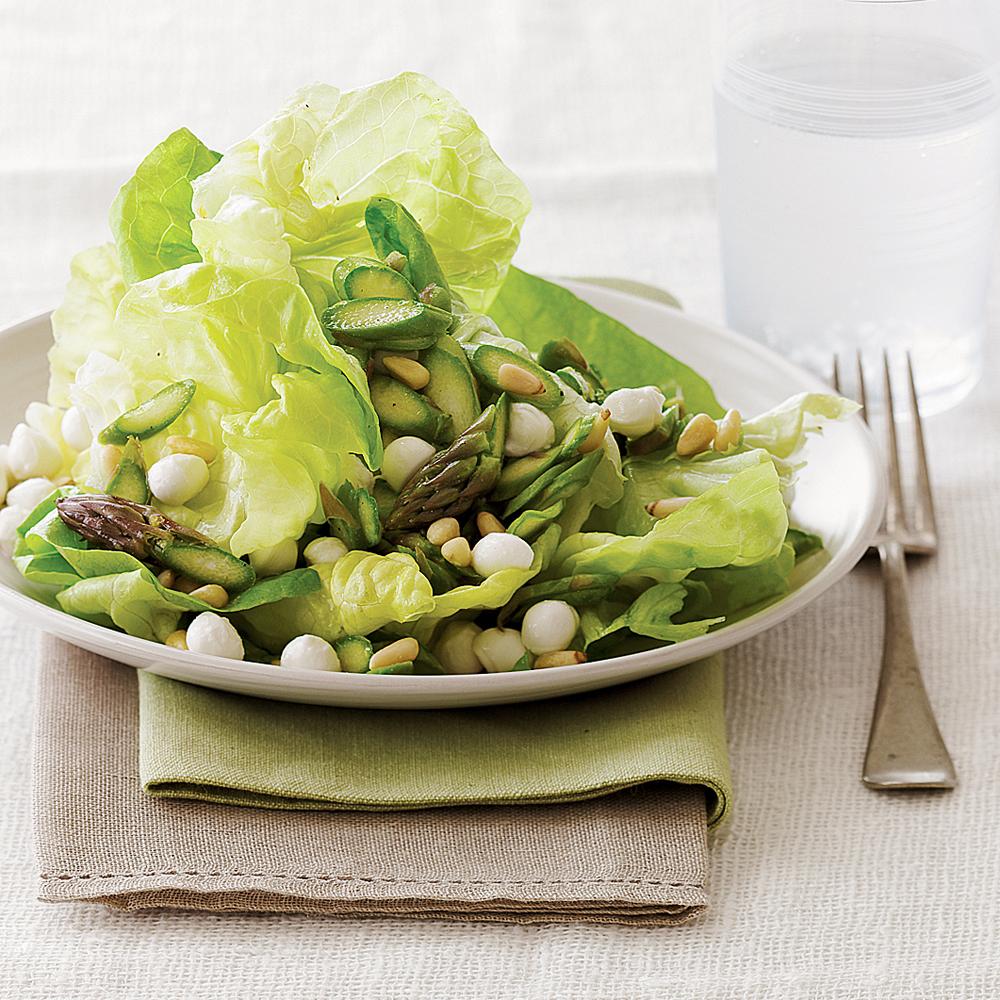 Asparagus and Butterhead Lettuce Salad