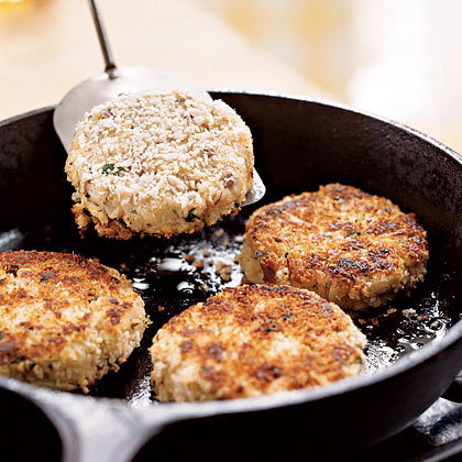 Crab Cakes with Roasted Vegetables and Tangy Butter Sauce