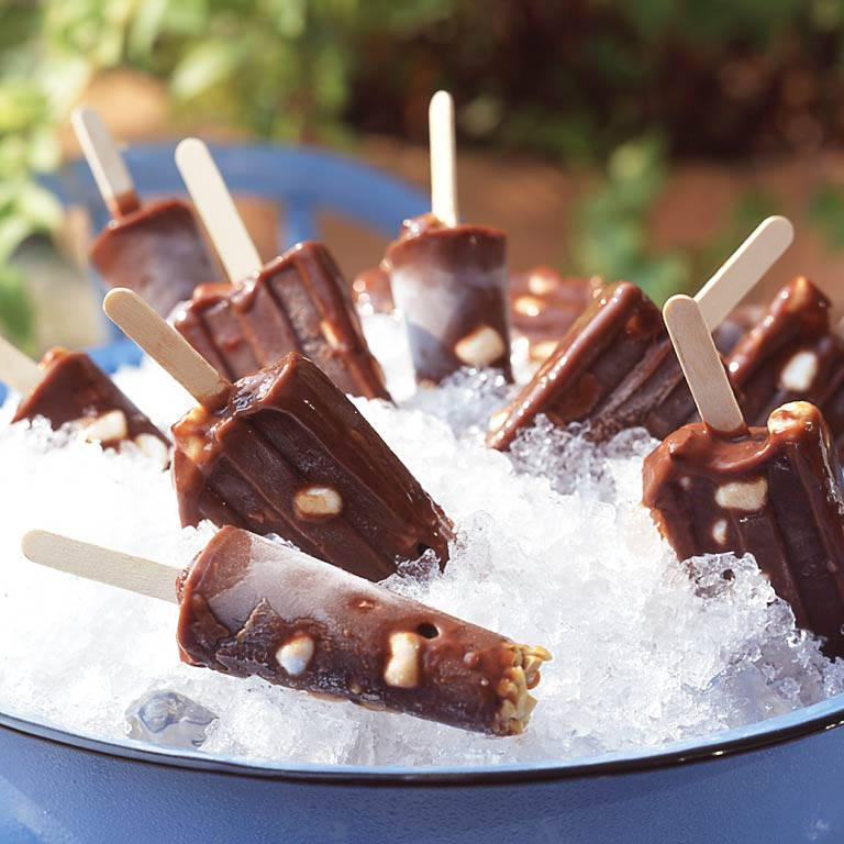 Rocky Road Fudge Pops