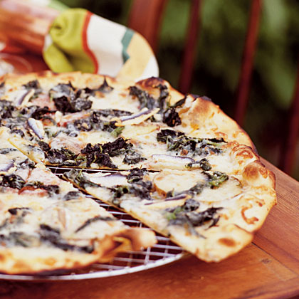 Pizza Rustica with Wild Nettles