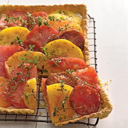 Heirloom Tomato and Goat Cheese Tart
