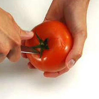 Coring a Tomato