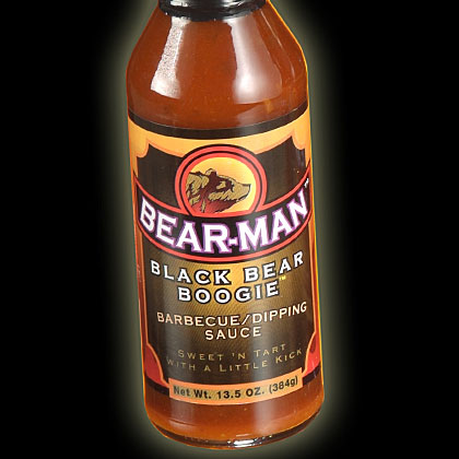 Bear-Man: Black Bear Boogie Barbecue Sauce and Growlin' Grizzly Barbecue Sauce