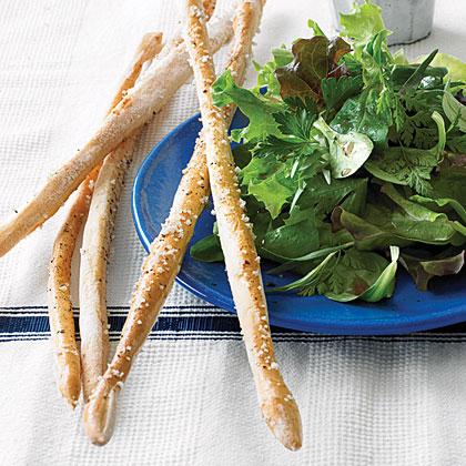 Thin Salt-and-Pepper Breadsticks