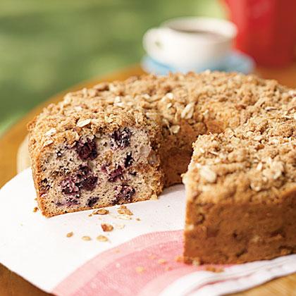 Cherry Ripple Sour Cream Coffee Cake
