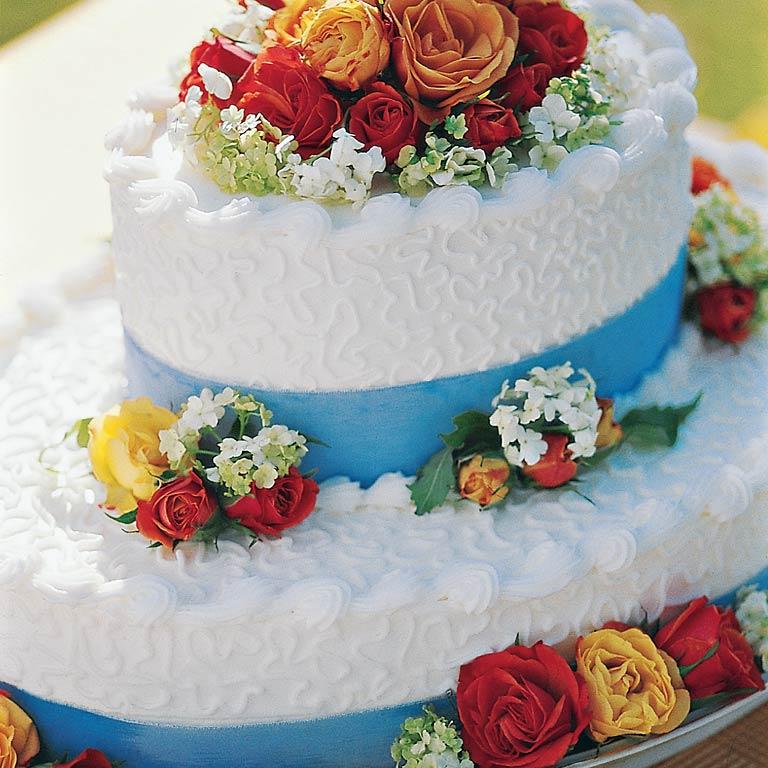 Garden Bridal Cake