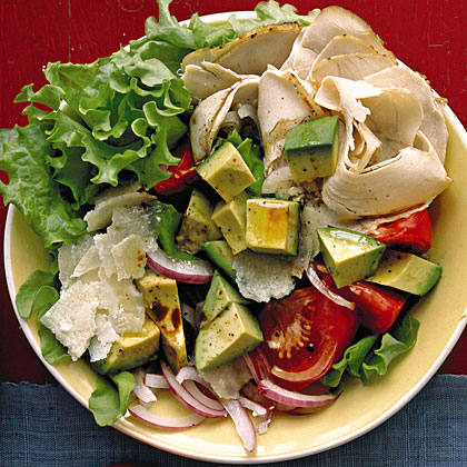 Turkey Salad with Tomato, Avocado, and Parmesan