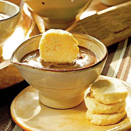 Chocolate-Espresso Pots de Crème with Benne Seed Coins