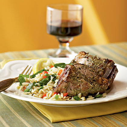 Herbes de Provence Lamb Chops with Orzo