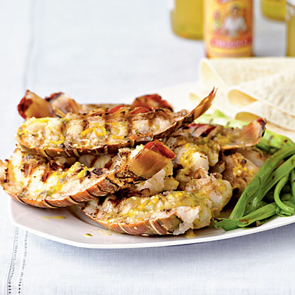 Baja-Style Grilled Rock Lobster Tails