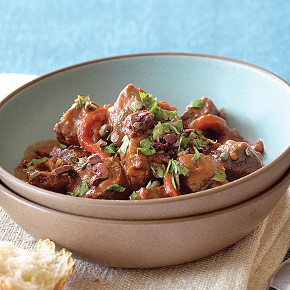 Spanish-style Lamb Stew with Roasted Red Peppers