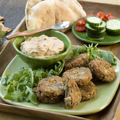 Black-eyed Pea Falafel With Sun-dried Tomato Hummus