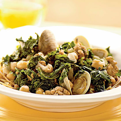 Sausage and Clams with Chickpeas