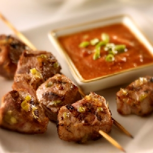 Grilled Pork Tenderloin with Ginger Dipping Sauce