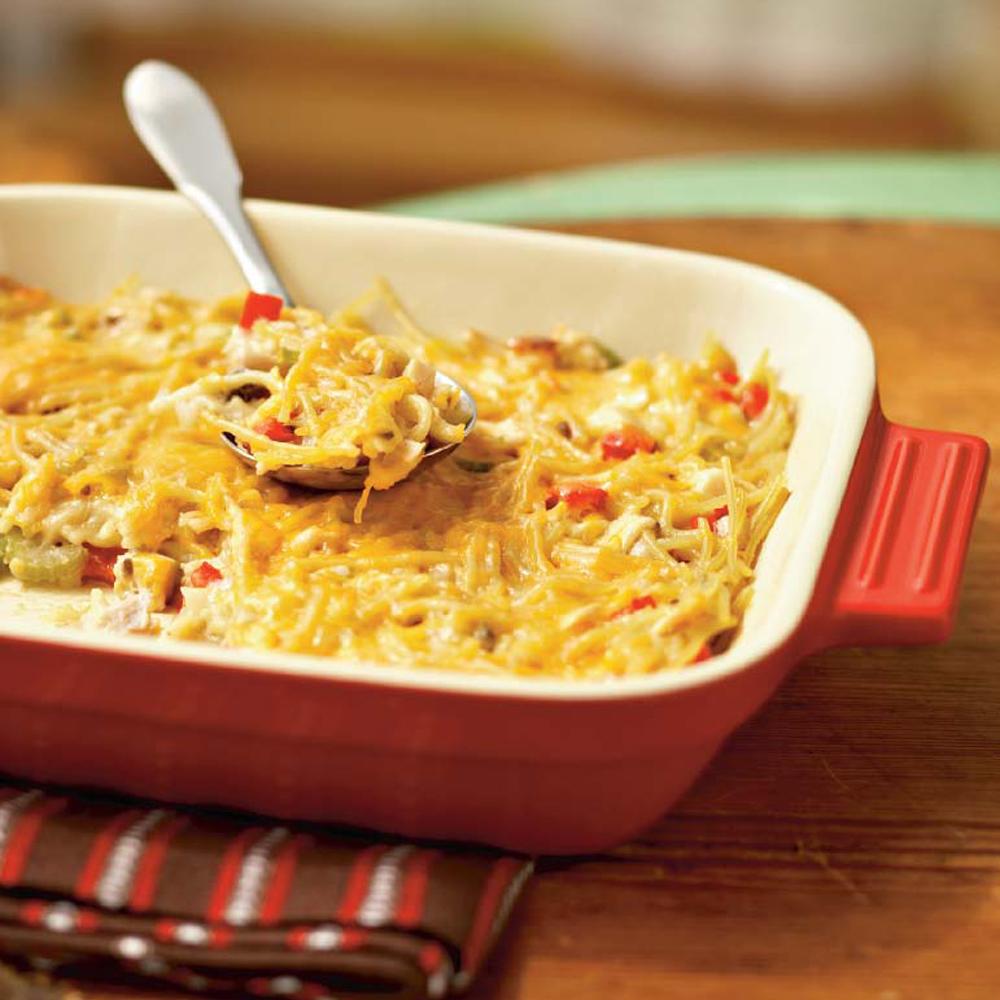 Aunt Liz's Chicken Spaghetti Casserole