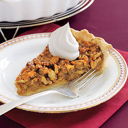 Walnut Pie with Honey Whipped Cream