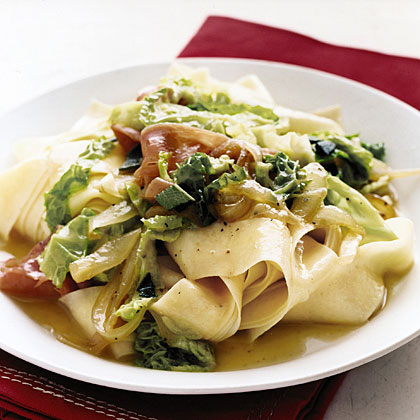 Pappardelle with Cabbage, Prosciutto, and Sage
