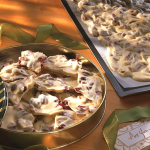 Toasted Pecan Cranberry Bark