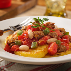 Italian Sausage and Bean Stew with Polenta