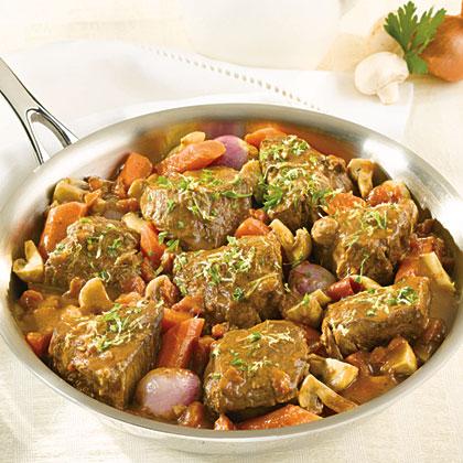 Braised Beef Shallots Mushrooms