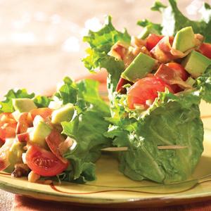 Avocado Salad in Lettuce Wraps