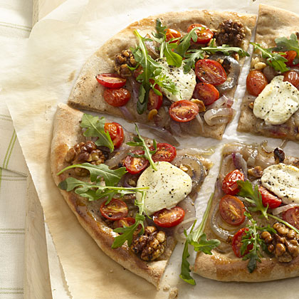Arugula and Goat Cheese Pizza