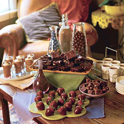 Table of Chocolate Treats Menu