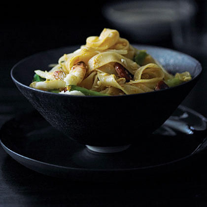 Malaysian Noodles with Crab and Sausage (Penang Char Kway Teow)