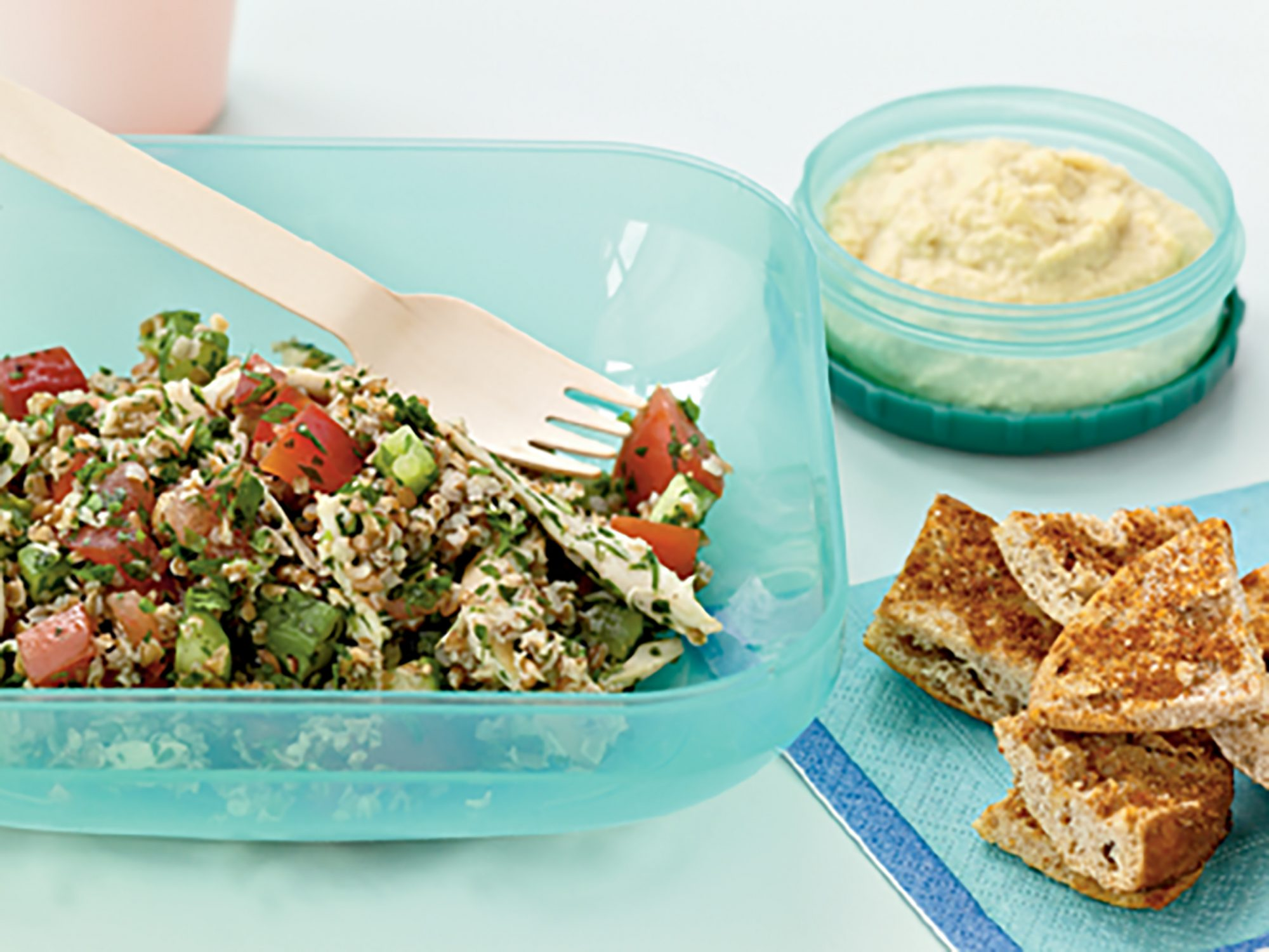 Tabbouleh with Chicken and Red Pepper
