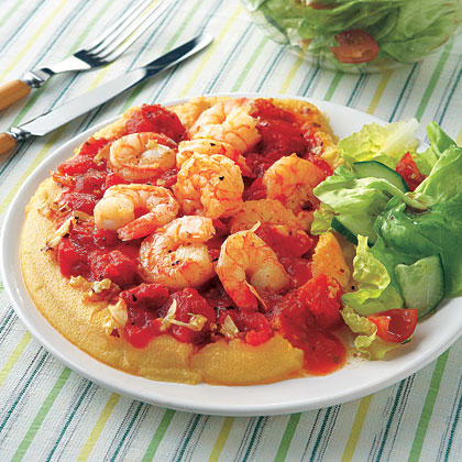 Polenta with Shrimp and Tomatoes