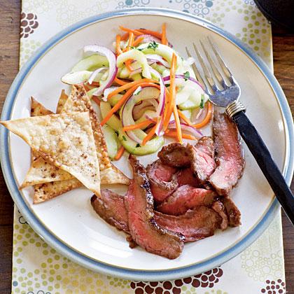 Hoisin Flank Steak with Asian Cucumber Salad