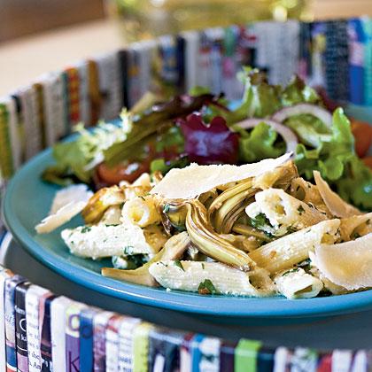 Pasta with Artichokes and Fresh Ricotta