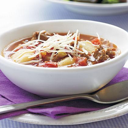 Turkey Sausage-Gnocchi Soup