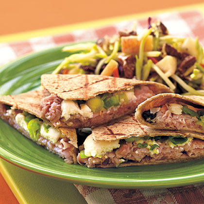 Grilled Ham and Mango Quesadillas