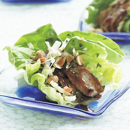 Hoisin Pork and Boston Lettuce Wraps