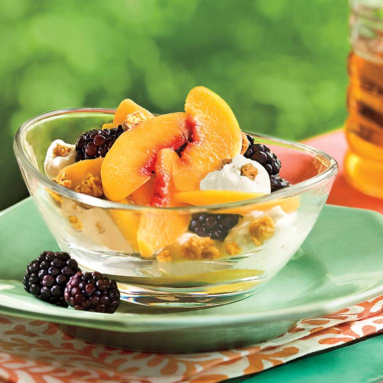 Peach-Blackberry-Yogurt Fruit Cups