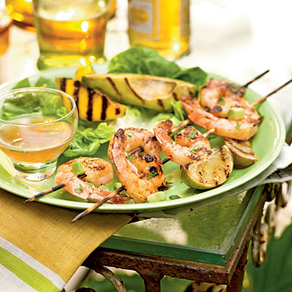 Grilled Shrimp, Mango, and Avocado