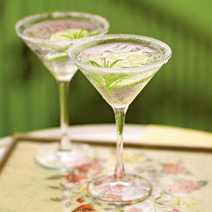 Lemon Verbena Gimlet Cocktails