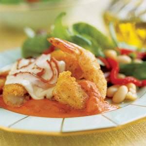 Elegant Shrimp Parmesan