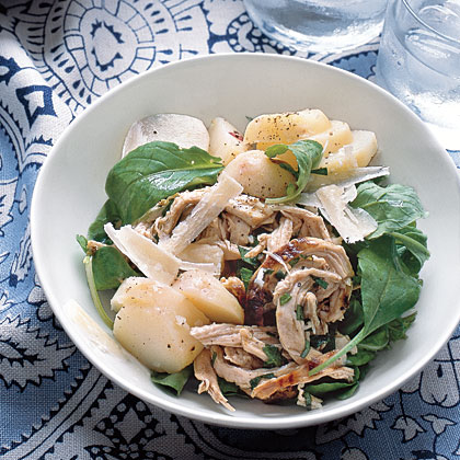 Chicken Salad With Potatoes and Arugula