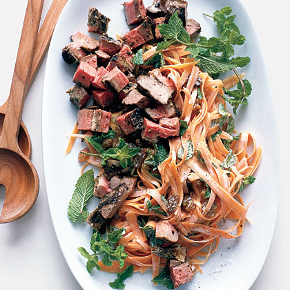 Moroccan Lamb Salad With Carrots and Mint