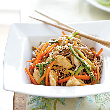 Soba Noodles with Chicken and Vegetables