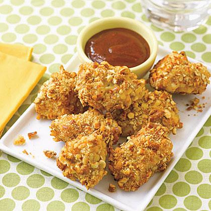 Pretzel-Crusted Chicken Nuggets