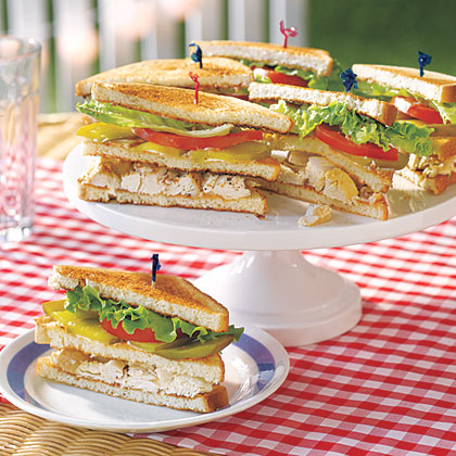 Chicken Salad Club Sandwiches